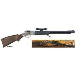 Puška kovbojská s dalekohledem kovová - 8 ran Pro kluky