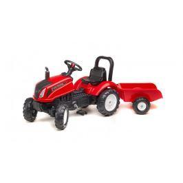 Traktor Land Master šlapací s valníkem červený