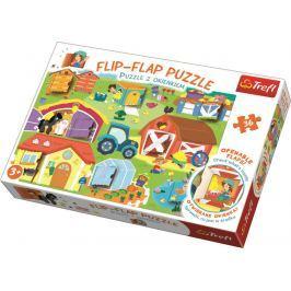 Puzzle 36 dílků Flip-flap Na farmě Stavebnice a puzzle