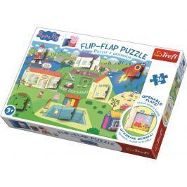Puzzle 36 dílků Flip-flap Prasátko Pepa Stavebnice a puzzle