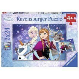 Puzzle Disney Ledové království 2x24 dílků Stavebnice a puzzle