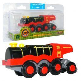 Studo Wood Lokomotiva parní oranžová na baterie