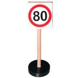 Studo Wood Dopravní značka dřevěná - max rychlost 80 km/hod