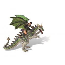 Drak s jezdcem zelený