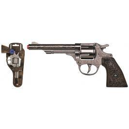 Revolver kovbojský stříbrný, kovový - 8 ran Pro kluky