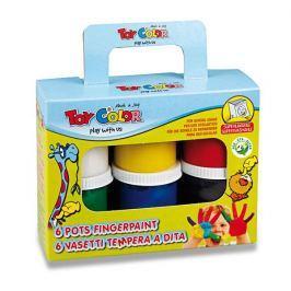 Prstové barvy Koral Toy Color, 6 barev, 80ml