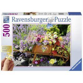 Puzzle Květinová dekorace 500 velkých dílků