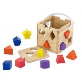 Dřevěná vkládačka tvary kostka