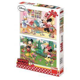 Dino Puzzle 2x66 dílků pracovitá Minnie