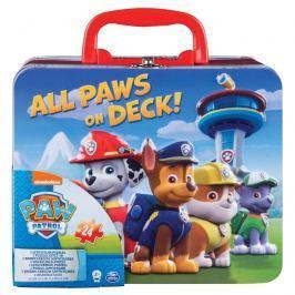 Puzzle v plechovém kufříku Tlapková patrola