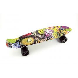 Skateboard - pennyboard 60cm nosnost 90kg potisk barevný, če