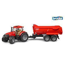 Traktor Case + vůz Krampe