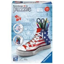 Puzzle 3D 108 dílků Kecka - vlajkový design