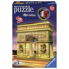 Puzzle 3D Vítězný oblouk Noční edice 216 dílků