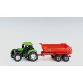 Traktor se sklápěcím přívěsem