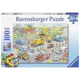 Puzzle Stroje ve městě 100 dílků