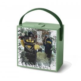 Lego Ninjago Movie box s rukojetí - army zelená