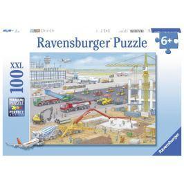 Puzzle Stavba na letišti 100 dílků