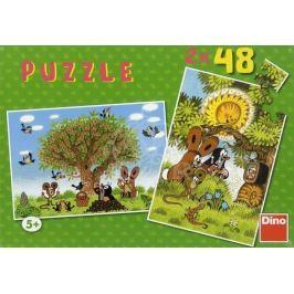 Puzzle léto s Krtečkem 2x48 dílků