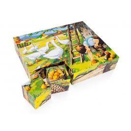 Dřevěné obrázkové kostky