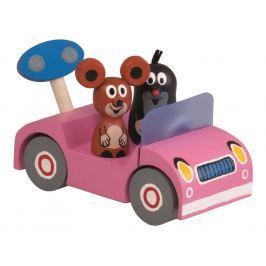 Krtek na výletě - růžové auto