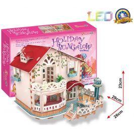 Puzzle 3D Chatka pro panenky / led - 114 dílků