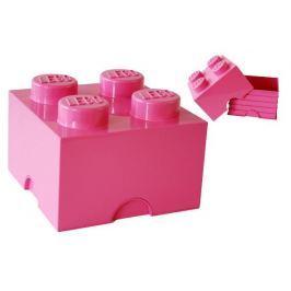 LEGO úložný box 250 x 250 x 180 mm - růžová