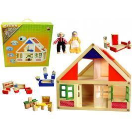 Studo Wood Domeček dřevěný + figurky + vybavení