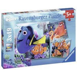 Ravensburger Puzzle Disney Hledá se Dora 3x49 dílků