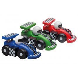 Dřevěná závodní formule 3 barvy