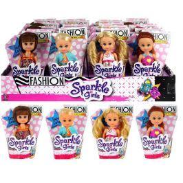 Panenka Sparkle Girlz Fashion malá v kornoutku