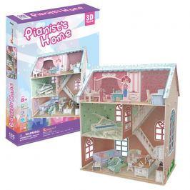 Puzzle 3D Dollhouse - Pianist's Home