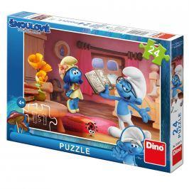 Dino Puzzle 24 dílků Šmoulové 3: Chvilka poezie