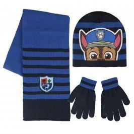Sada šála, rukavice, čepice - Tlapková Patrola modrá