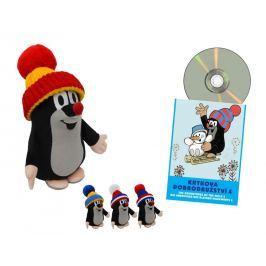Krtek 25 cm kulich + DVD - 4 druhy