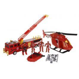 Hasičský set s helikoptérou a zásahovým vozidlem
