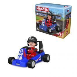 Igráček Igráček závodník s motokárou - modrá