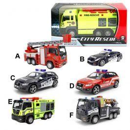 Auta Policie, požárníci