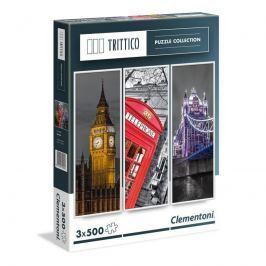 Puzzle Trittico 3x500 dílků Londýn