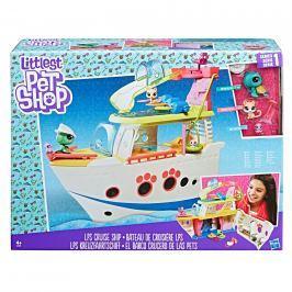 Hasbro Littlest Pet Shop Hrací set - výletní loď se 3 zvířátky