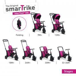 Tříkolka Smart Trike 7 v 1 Smartfold 500 růžová