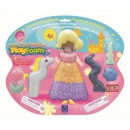 PEXI Modelína/Plastelína Princezna a přátelé kuličková Play Foam na kartě