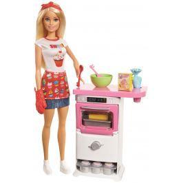 Mattel Barbie Herní set Vaření a pečení s panenkou