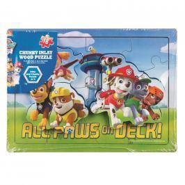 Vystupující dřevěné puzzle Tlapková patrola Pro kluky