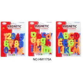 Magnetická písmenka/číslice - 1ks - 3 druhy
