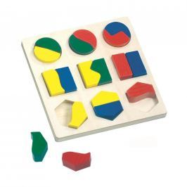 Dřevěné Puzzle - geometrické tvary