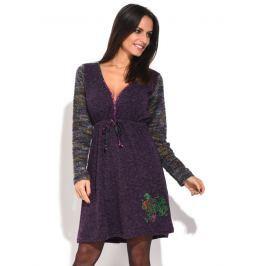 Baba Design Dámské šaty 6687-W6HBD09-VIOLA