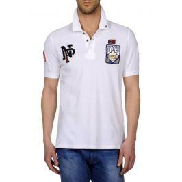Napapijri Pánské polo tričko EVALD WHITE