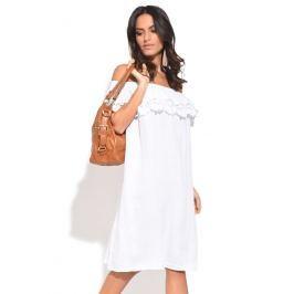 100% Lin Dámské šaty 6738 - ROBE LILA P6815 BLANC