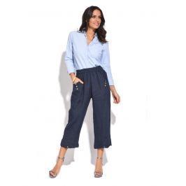 100% Lin Dámské kalhoty 6738 - PANTACOURT CELIA P9120 MARINE